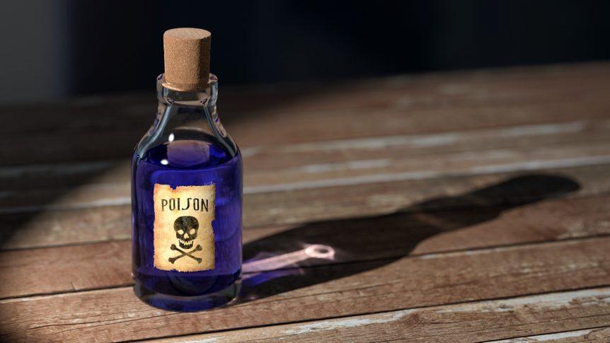 Bild einer Giftflasche: welche Substanzen sind giftig für Ratten